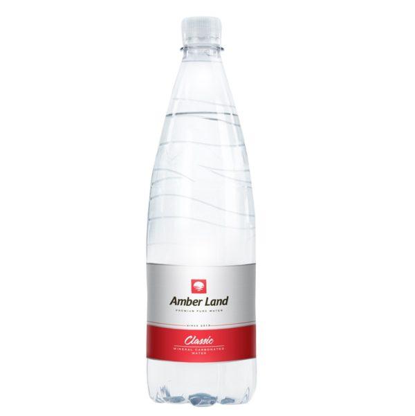 Вода столовая минеральная питьевая газированная 1.5 л.